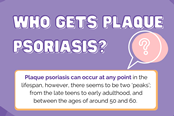 Who gets plaque psoriasis?