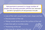 What are the symptoms of nail psoriasis?